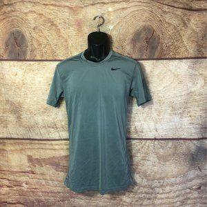 Nike Dri Fit Activewear T Shirt Gray Crew Neck M